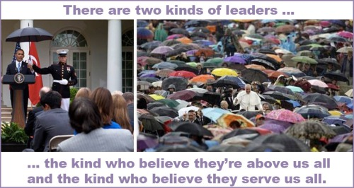 Two kinds of leaders