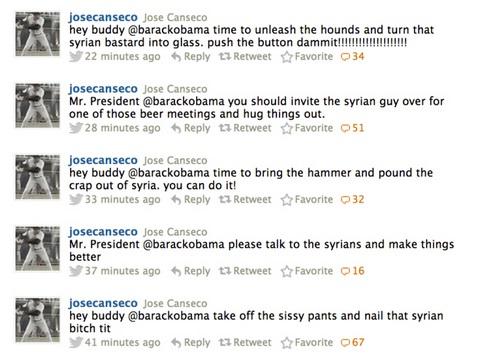 2013_06 13 Jose Canseco advises POTUS