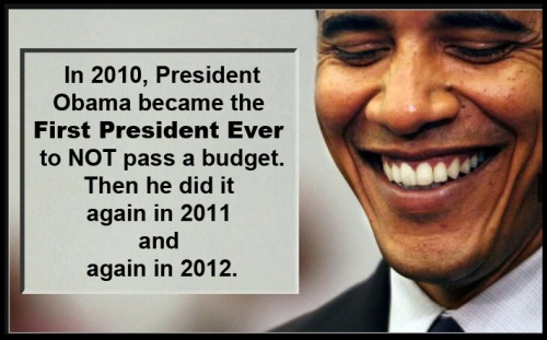 Barry No Budget Obama