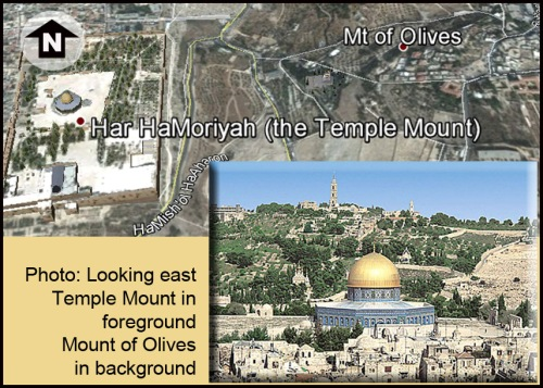 Jerusalem Mt of Olives Dome aerial and photo
