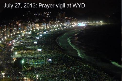 2013_07 27 WYD prayer vigil on beach