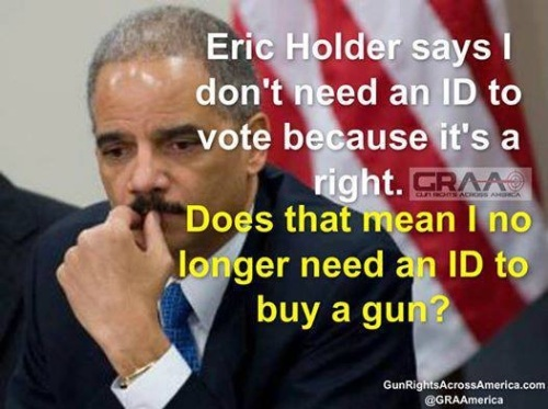 Holder on no ID to vote