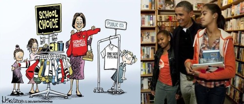 Obama girls getting a GOOD education