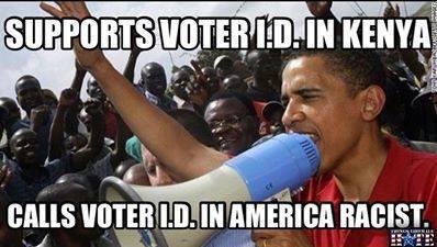 Obama hypocrisy on voter id