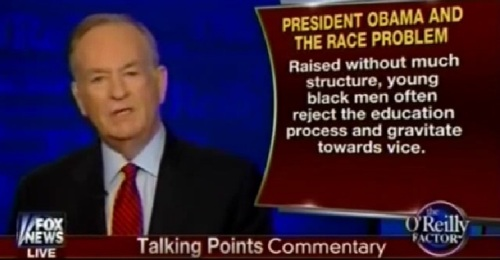 O'Reilly on the cause of the race problem b