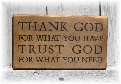 Thank God Trust God