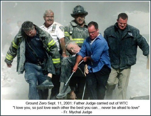 2001_09 11 Fr Judge carried out of WTC
