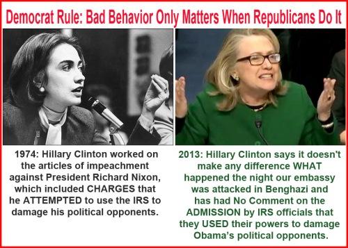 2013 1974 Hillary Hypocrite