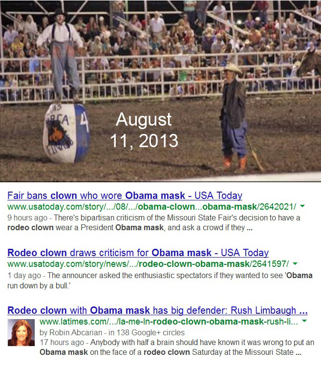 2013_08 11 Obama rodeo clown banned