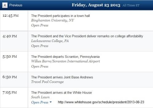 2013_08 23 BHO schedule