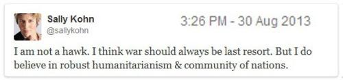 2013_08 30 Sally Kohn supports war on Syria 2