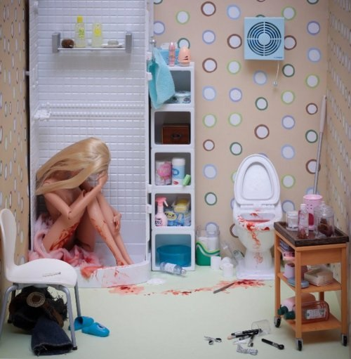 Abortion Barbie roombox