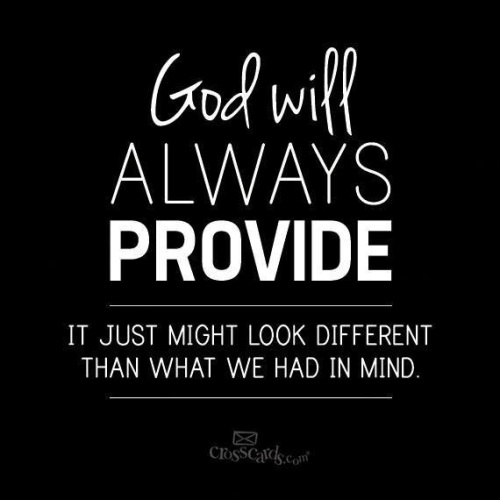 God will always provide