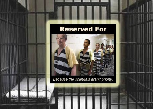 Jail reserved for not phony scandals