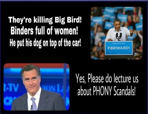 Please lecture us about phony scandals