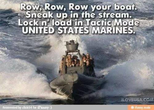 Row row Marines
