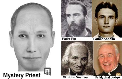 Sketch of mystery priest