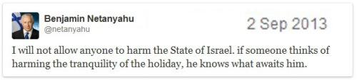 2013_09 02 Netanyahu tweets