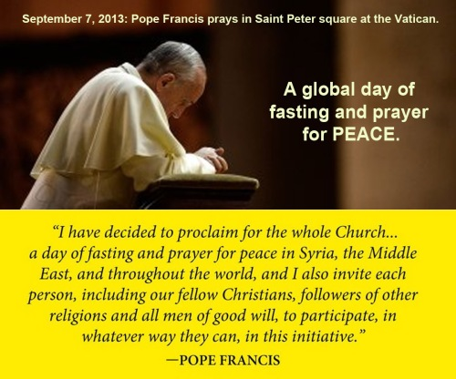 2013_09 07 Prayer and Fasting for peace