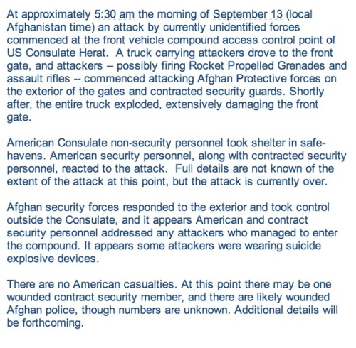 2013_09 13 Herat AFGH consulate attack Full statement
