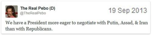 2013_09 19 Tweet - Obama negotiate