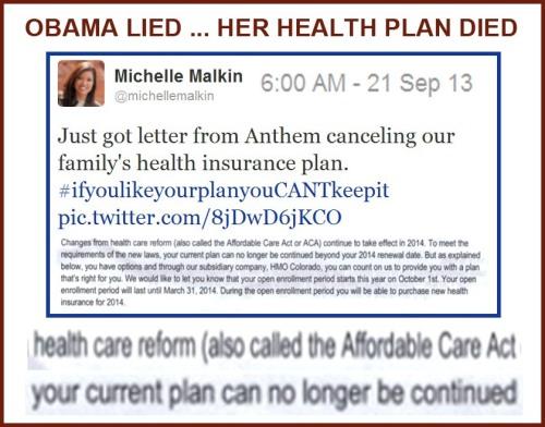 2013_09 21 Obama lied Her health plan died
