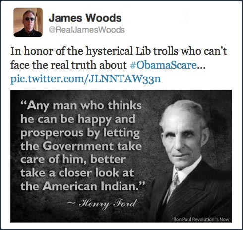 2013_09 James Woods and Henry Ford on Obamacare