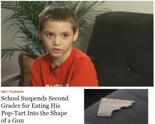 2d grader suspended for pop tart gun