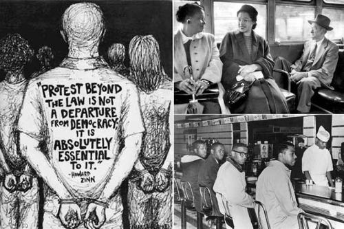 Civil disobedience - composite