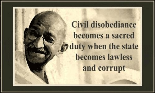 Civil disobedience - Gandhi
