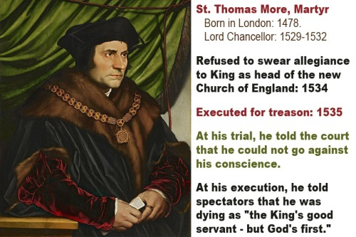 Civil disobedience - St Thomas More