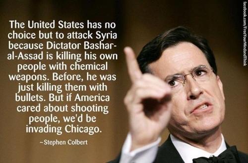 Colbert on Syria