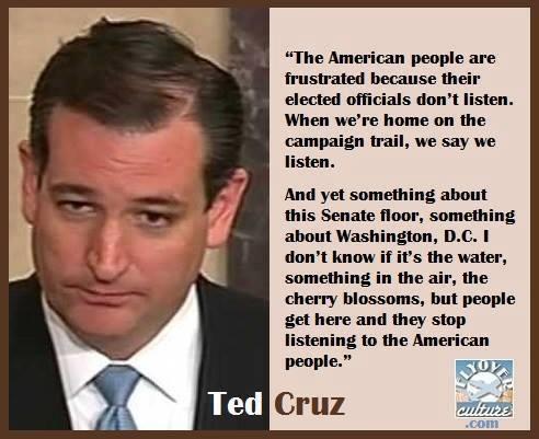 Cruz DC doesn't listen