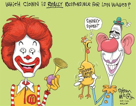 JOBS 2013_08 Which clown is really responsible for low wages