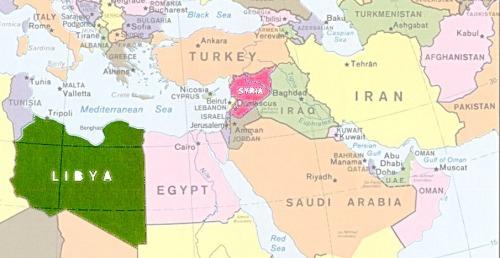 MAP Libya Syria