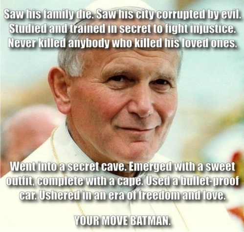Pope JP II - Your move Batman