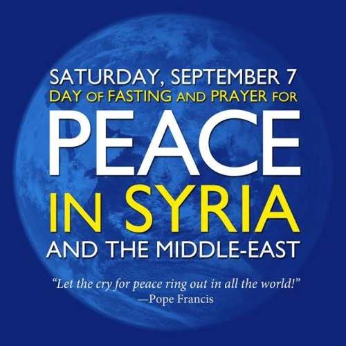 Sept 7 Fast and Pray for Peace