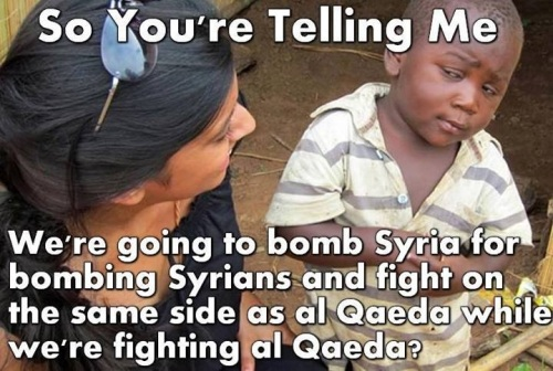 So you're telling me - Syria