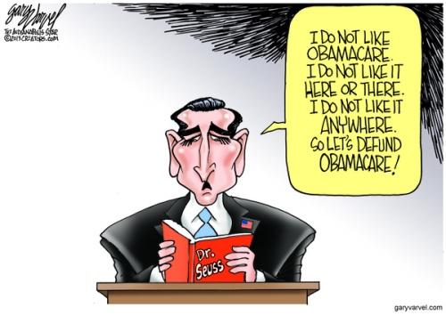 Cartoonist Gary Varvel: Sen. Ted Cruz reads Dr. Seuss