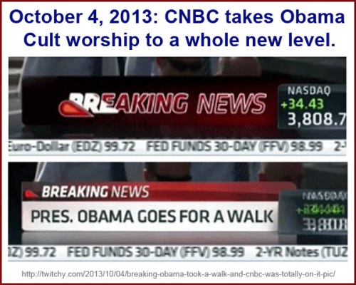 2013_10 04 Breaking News Obama goes for walk