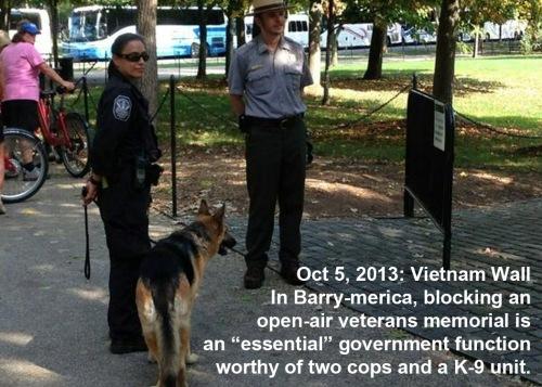 2013_10 05 Cops and K-9 to block open air memorial