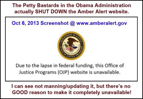 2013_10 06 Amber Alert website shut down