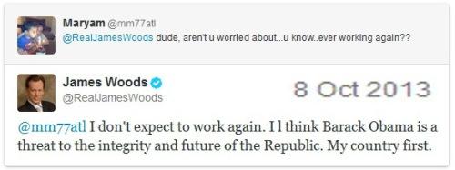 2013_10 08 James Woods won't shut up