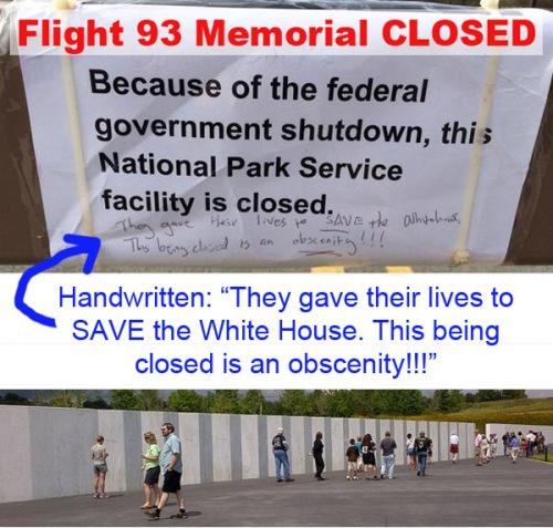 2013_10 10 Flight 93 closed
