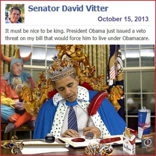 2013_10 15 Senator Vitter vs Obama Veto