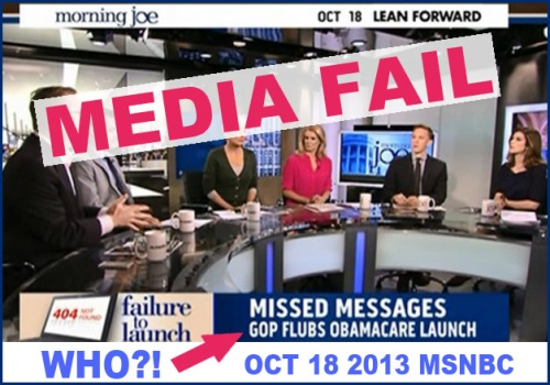 2013_10 18 MSNBC blames Ocare site fail on GOP