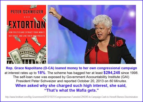 2013_10 20 Grace Napolitano D-CA extorts cash