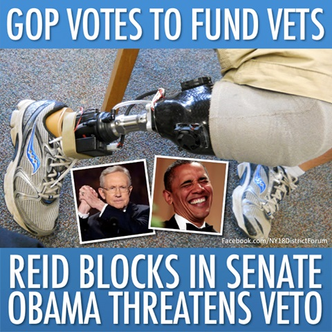 2013_10  GOP votes to fund vets Reid blocks