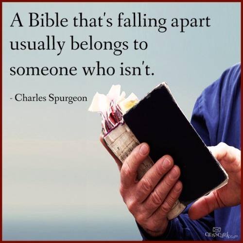 A Bible that's falling apart