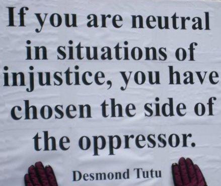 Bishop Tutu - Choosing sides